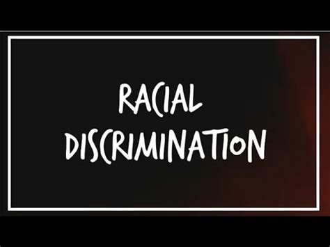An essay about discrimination